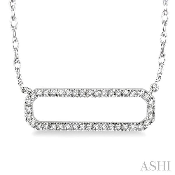 1/6 Ctw Round Cut Diamond Rounded Rectangle Necklace in 10K White Gold Trinity Diamonds Inc. Tucson, AZ
