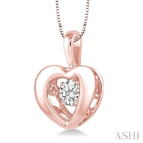 1/20 Ctw Round Cut Diamond Emotion Pendant in 10K Rose Gold with Chain Image 2 Trinity Diamonds Inc. Tucson, AZ