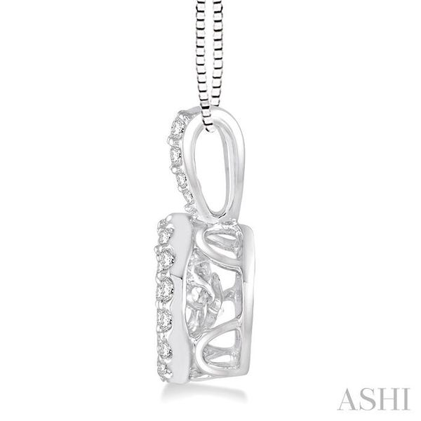 5/8 Ctw Round Cut Diamond Emotion Pendant in 14K White Gold with Chain Image 2 Trinity Diamonds Inc. Tucson, AZ