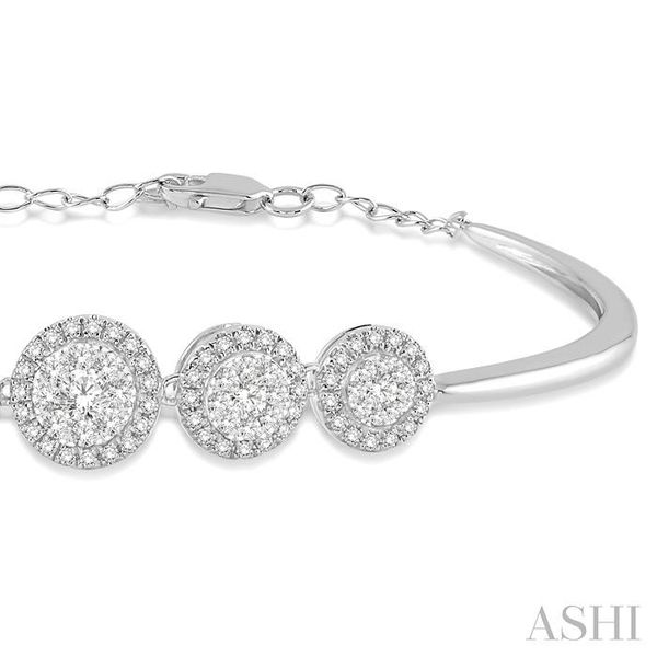 1 1/6 Ctw Round Cut Diamond Lovebright Bracelet in 14K White Gold Image 2 Trinity Diamonds Inc. Tucson, AZ