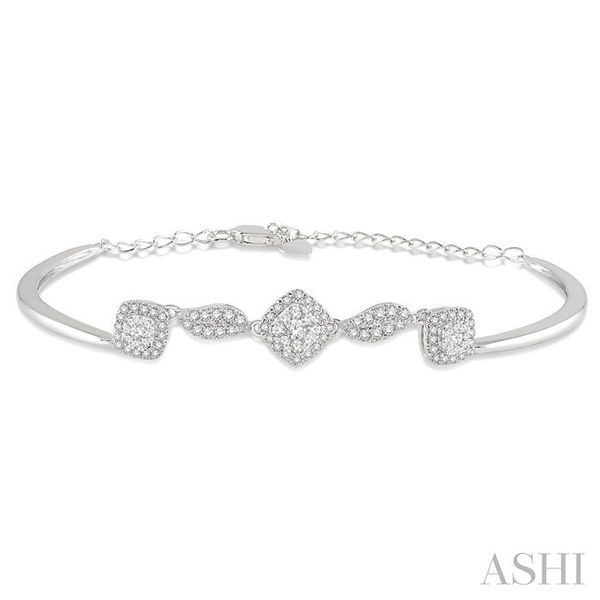 5/8 Ctw Round Cut Diamond Lovebright Bracelet in 14K White Gold Trinity Diamonds Inc. Tucson, AZ