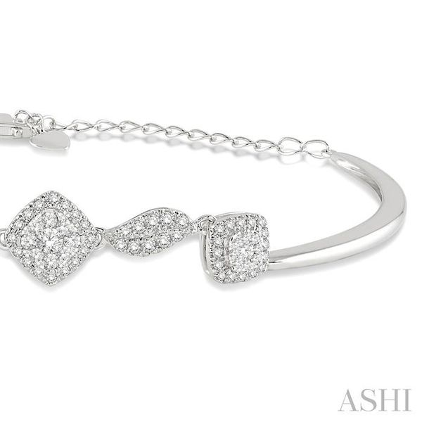 5/8 Ctw Round Cut Diamond Lovebright Bracelet in 14K White Gold Image 2 Trinity Diamonds Inc. Tucson, AZ