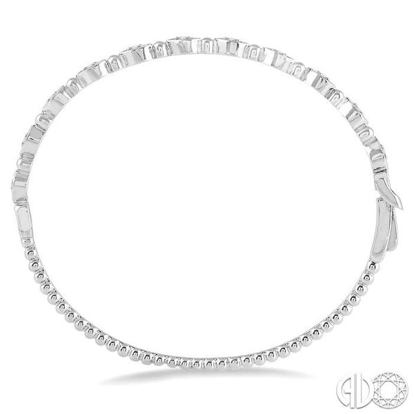 1/4 Ctw Marquise Link Round Cut Stackable Diamond Bangle in 14K White Gold Image 3 Trinity Diamonds Inc. Tucson, AZ
