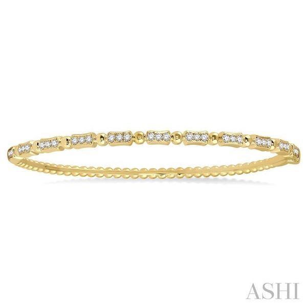 1/2 Ctw Box Link Round Cut Stackable Diamond Bangle in 14K Yellow Gold Image 2 Trinity Diamonds Inc. Tucson, AZ