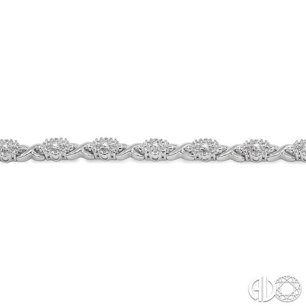 1/6 Ctw Single Cut Diamond Cluster Tennis Bracelet in Sterling Silver Image 3 Trinity Diamonds Inc. Tucson, AZ