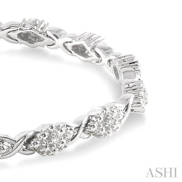 1/6 Ctw Single Cut Diamond Cluster Tennis Bracelet in Sterling Silver Image 2 Trinity Diamonds Inc. Tucson, AZ