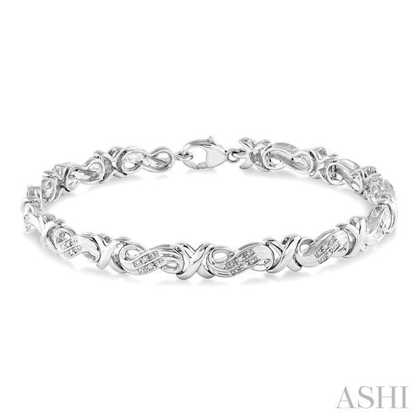 1/6 Ctw Single Cut Diamond 'X' Link Tennis Bracelet in Sterling Silver Trinity Diamonds Inc. Tucson, AZ