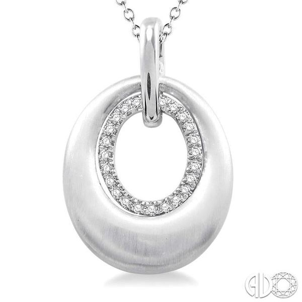 1/20 Ctw Oval Shape Single Cut Diamond Pendant in Sterling Silver with Chain Image 3 Trinity Diamonds Inc. Tucson, AZ