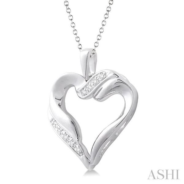 1/20 Ctw Single Cut Diamond Heart Pendant in Sterling Silver with Chain Image 2 Trinity Diamonds Inc. Tucson, AZ