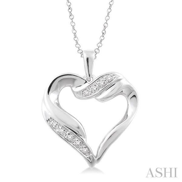 1/20 Ctw Single Cut Diamond Heart Pendant in Sterling Silver with Chain Trinity Diamonds Inc. Tucson, AZ