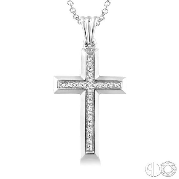1/20 Ctw Single Cut Diamond Cross Pendant in Sterling Silver with Chain Image 3 Trinity Diamonds Inc. Tucson, AZ