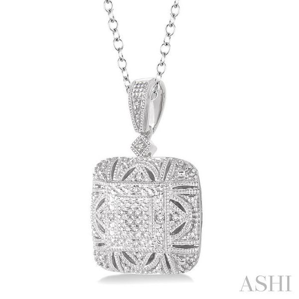 1/20 Ctw Round Cut Diamond Fashion Pendant in Sterling Silver with Chain Image 2 Trinity Diamonds Inc. Tucson, AZ