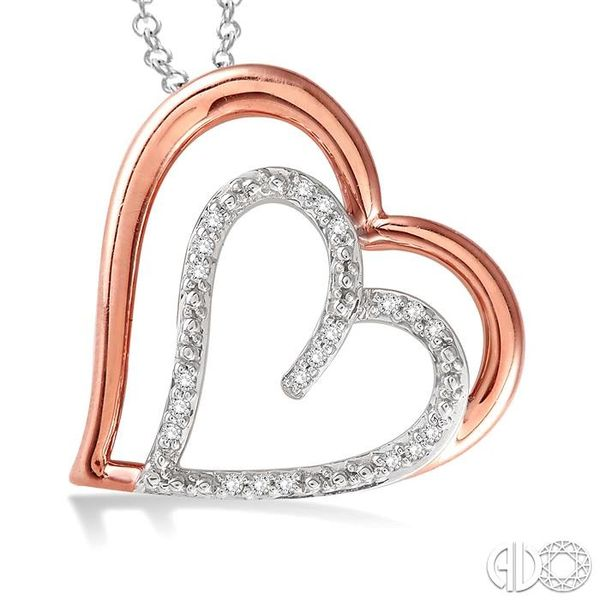 1/20 Ctw Single Cut Diamond Heart Pendant in Sterling Silver with Chain Image 3 Trinity Diamonds Inc. Tucson, AZ