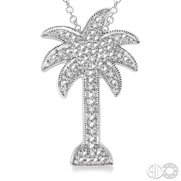 1/20 Ctw Single Cut Diamond Palm Tree Pendant in Sterling Silver with Chain Image 3 Trinity Diamonds Inc. Tucson, AZ