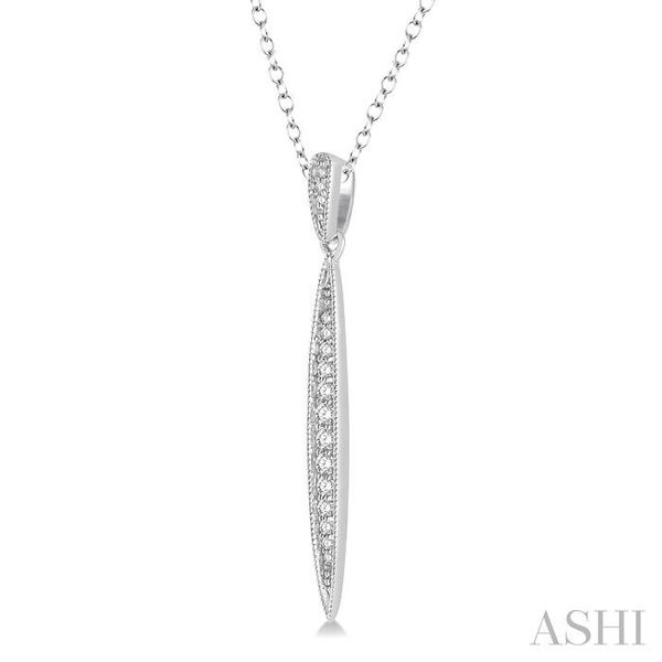 1/6 Ctw Marquise Round Cut Diamond Pendant With Link Chain in 10K White Gold Image 2 Trinity Diamonds Inc. Tucson, AZ