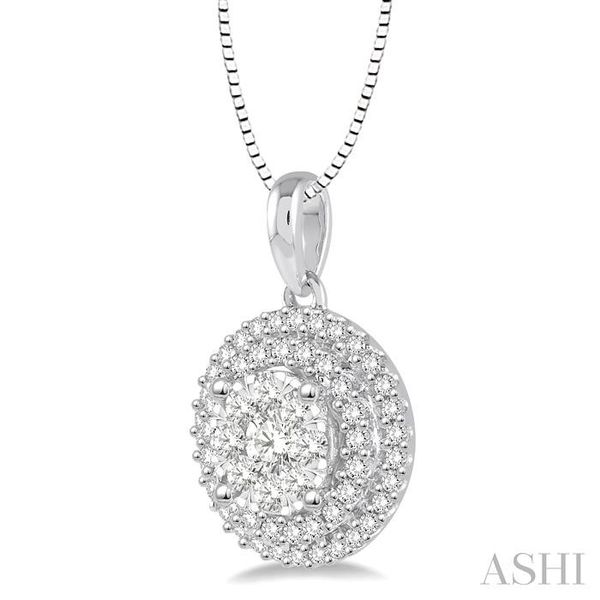 1/2 Ctw Diamond Lovebright Pendant in 14K White Gold with Chain Image 2 Trinity Diamonds Inc. Tucson, AZ