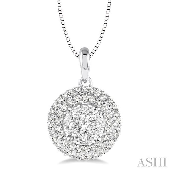 1/2 Ctw Diamond Lovebright Pendant in 14K White Gold with Chain Trinity Diamonds Inc. Tucson, AZ