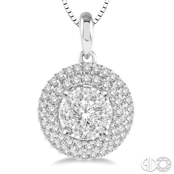 1/2 Ctw Diamond Lovebright Pendant in 14K White Gold with Chain Image 3 Trinity Diamonds Inc. Tucson, AZ