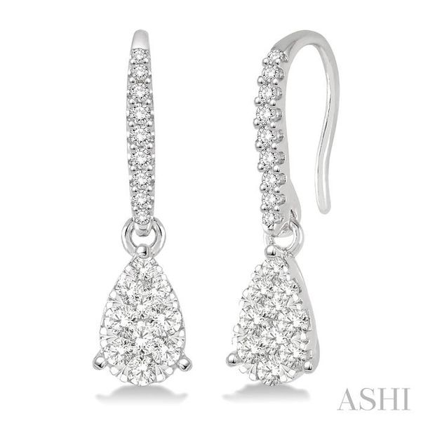 3/8 Ctw Pear Shape Diamond Lovebright Earrings in 14K White Gold Trinity Diamonds Inc. Tucson, AZ
