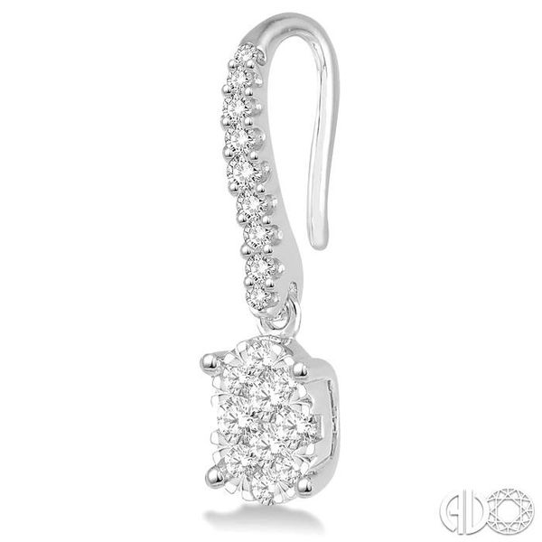 3/4 Ctw Oval Shape Diamond Lovebright Earrings in 14K White Gold Image 3 Trinity Diamonds Inc. Tucson, AZ
