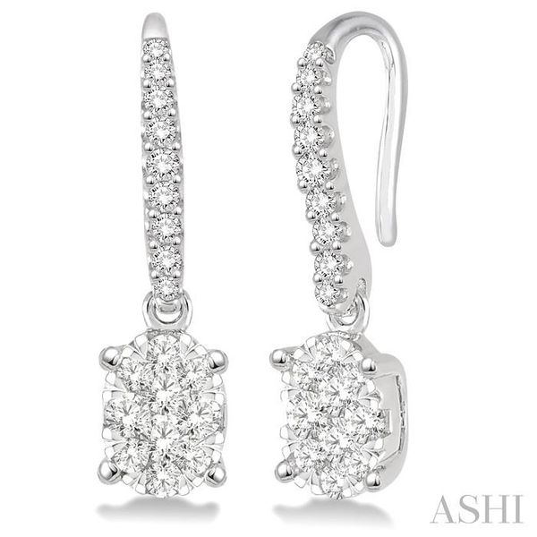 3/4 Ctw Oval Shape Diamond Lovebright Earrings in 14K White Gold Trinity Diamonds Inc. Tucson, AZ