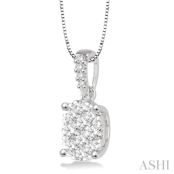 1/3 Ctw Oval Shape Diamond Lovebright Pendant in 14K White Gold with Chain Image 2 Trinity Diamonds Inc. Tucson, AZ