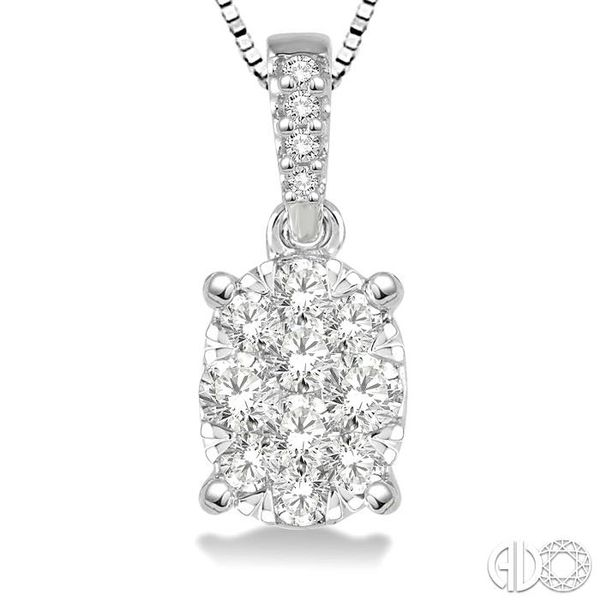 1/3 Ctw Oval Shape Diamond Lovebright Pendant in 14K White Gold with Chain Image 3 Trinity Diamonds Inc. Tucson, AZ