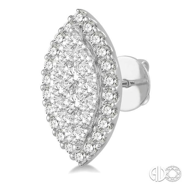 1 Ctw Marquise Shape Lovebright Round Cut Diamond Stud Earrings in 14K White Gold Image 3 Trinity Diamonds Inc. Tucson, AZ