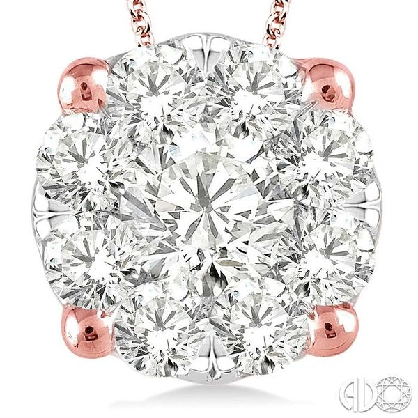 2 Ctw Lovebright Round Cut Diamond Pendant in 14K Rose Gold with Chain Image 3 Trinity Diamonds Inc. Tucson, AZ