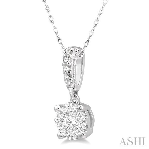 1/4 Ctw Lovebright Round Cut Diamond Pendant in 14K White Gold with Chain Image 2 Trinity Diamonds Inc. Tucson, AZ