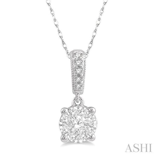 1/4 Ctw Lovebright Round Cut Diamond Pendant in 14K White Gold with Chain Trinity Diamonds Inc. Tucson, AZ