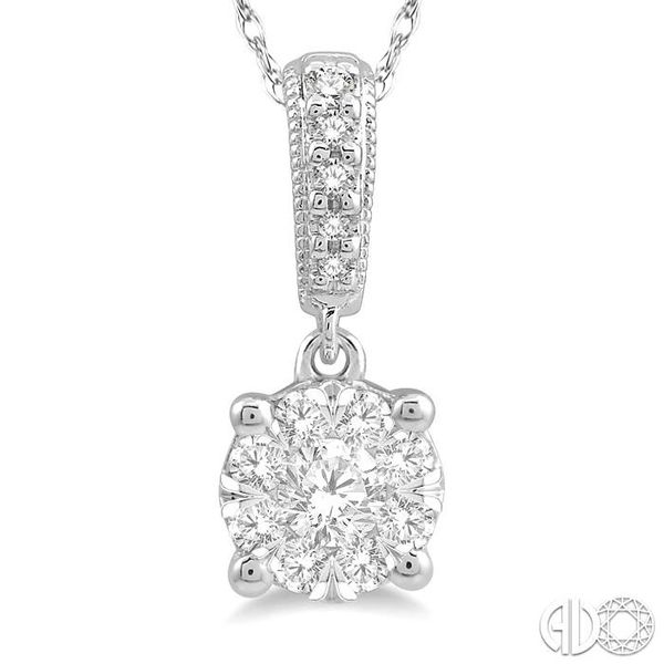 1/4 Ctw Lovebright Round Cut Diamond Pendant in 14K White Gold with Chain Image 3 Trinity Diamonds Inc. Tucson, AZ