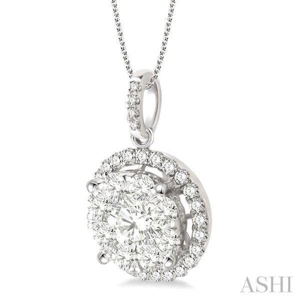2 Ctw Lovebright Round Cut Diamond Pendant in 14K White Gold with Chain Image 2 Trinity Diamonds Inc. Tucson, AZ