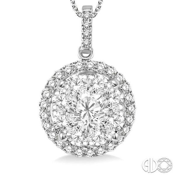 2 Ctw Lovebright Round Cut Diamond Pendant in 14K White Gold with Chain Image 3 Trinity Diamonds Inc. Tucson, AZ