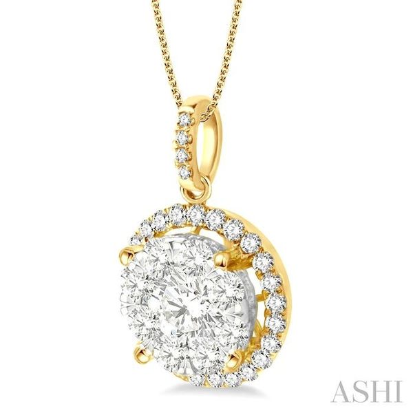 2 Ctw Lovebright Round Cut Diamond Pendant in 14K Yellow and White Gold with Chain Image 2 Trinity Diamonds Inc. Tucson, AZ