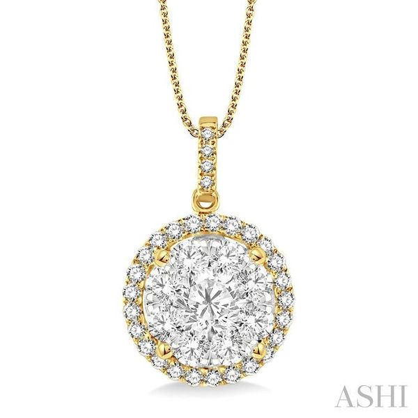 2 Ctw Lovebright Round Cut Diamond Pendant in 14K Yellow and White Gold with Chain Trinity Diamonds Inc. Tucson, AZ