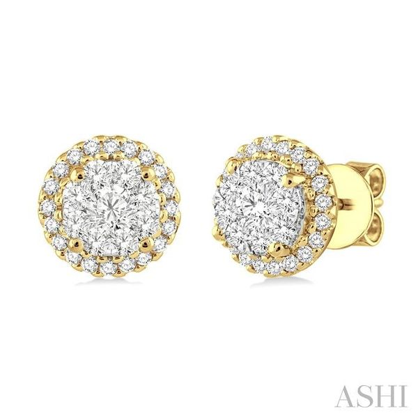 3/4 Ctw Lovebright Round Cut Diamond Earrings in 14K Yellow and White Gold Trinity Diamonds Inc. Tucson, AZ