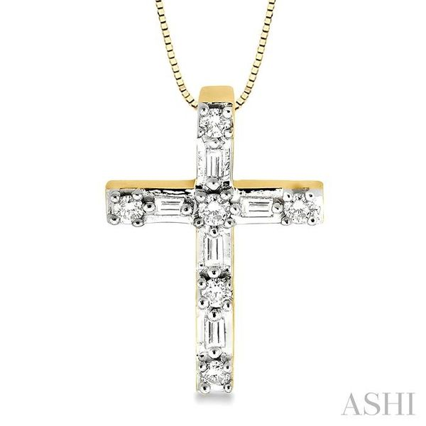 1/4 Ctw Diamond Cross Pendant in 14K Yellow Gold with chain Trinity Diamonds Inc. Tucson, AZ
