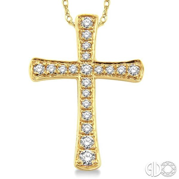 1/6 Ctw Round Cut Diamond Cross Pendant in 14K Yellow Gold with Chain Image 3 Trinity Diamonds Inc. Tucson, AZ