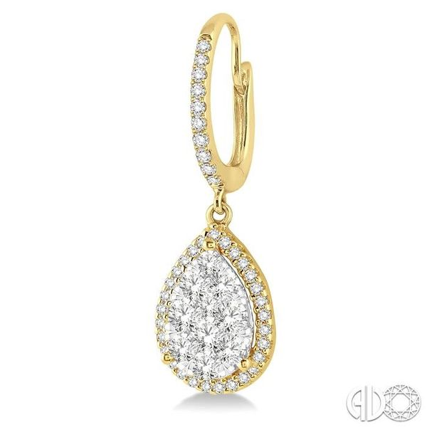 1 Ctw Pear Shape Diamond Lovebright Earrings in 14K Yellow and White Gold Image 3 Trinity Diamonds Inc. Tucson, AZ