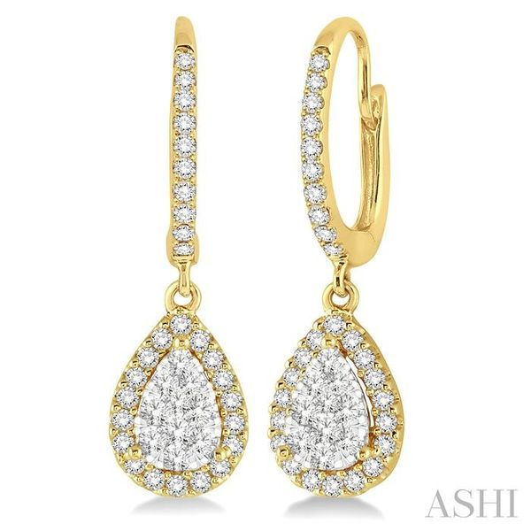 5/8 Ctw Pear Shape Diamond Lovebright Earrings in 14K Yellow and White Gold Trinity Diamonds Inc. Tucson, AZ