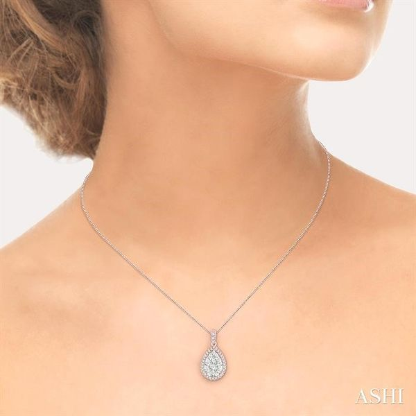 1/3 Ctw Pear Shape Diamond Lovebright Pendant in 14K Rose and White Gold with Chain Image 4 Trinity Diamonds Inc. Tucson, AZ