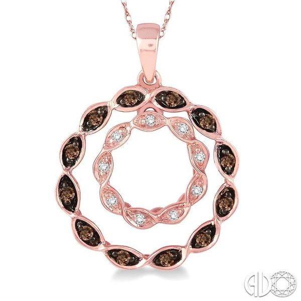 1/8 Ctw White and Champagne Brown Diamond Pendant in 14K Rose Gold with Chain Image 3 Trinity Diamonds Inc. Tucson, AZ