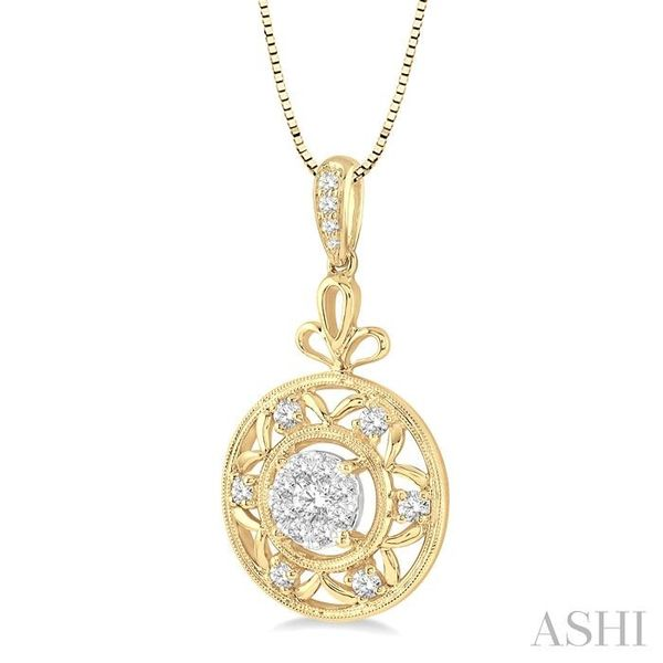 1/2 Ctw Round Cut Diamond Lovebright Pendant in 14K Yellow and White Gold with Chain Image 2 Trinity Diamonds Inc. Tucson, AZ