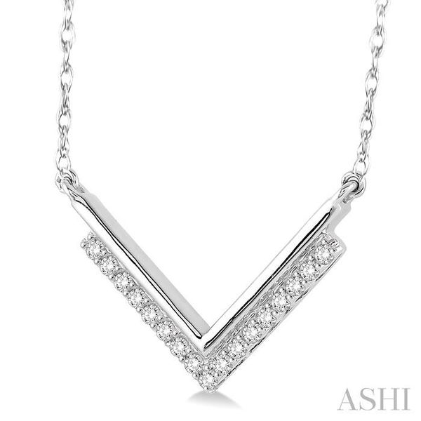 1/5 Ctw 'V' Shape Diamond Pendant in 14K White Gold with Chain Image 2 Trinity Diamonds Inc. Tucson, AZ