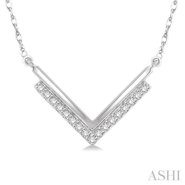 1/5 Ctw 'V' Shape Diamond Pendant in 14K White Gold with Chain Trinity Diamonds Inc. Tucson, AZ