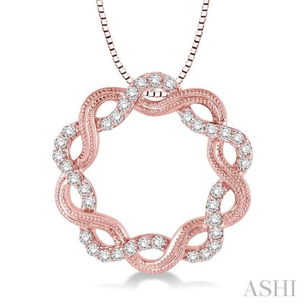 1/3 Ctw Round Cut Diamond Infinity Love Pendant in 14K Rose Gold with Chain Trinity Diamonds Inc. Tucson, AZ