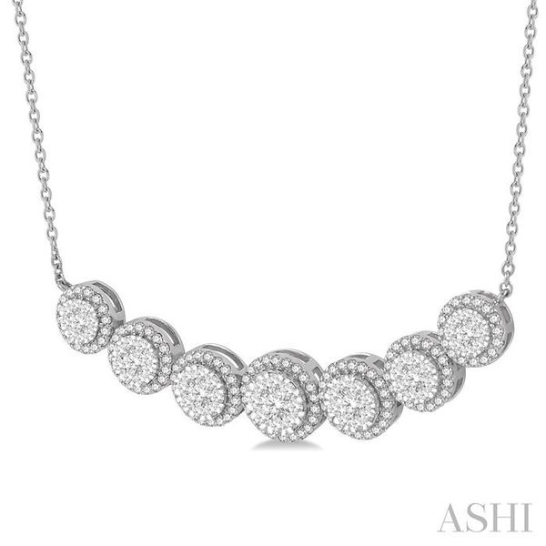 1 1/5 ctw Circular Mount Lovebright Round Cut Diamond Necklace in 14K White Gold Image 2 Trinity Diamonds Inc. Tucson, AZ