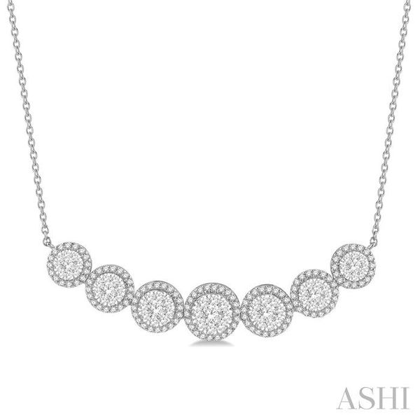 1 1/5 ctw Circular Mount Lovebright Round Cut Diamond Necklace in 14K White Gold Trinity Diamonds Inc. Tucson, AZ