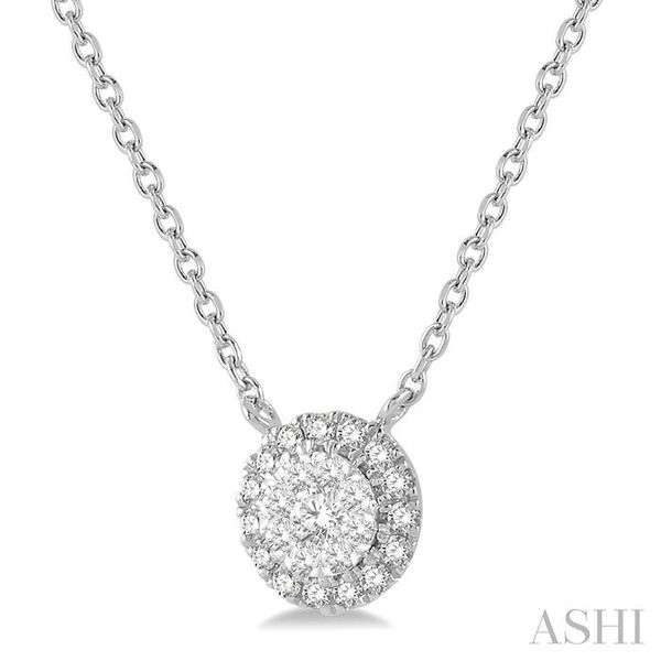 1/6 ctw Circular Pendant Round Cut Diamond Lovebright Necklace in 14K White Gold Image 2 Trinity Diamonds Inc. Tucson, AZ